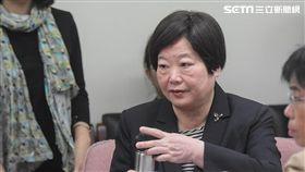 勞動部長林美珠前往立法院衛生及環境委員會備詢 圖/記者林敬旻攝