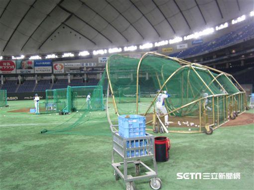 ▲韓國隊練球用2個打擊籠。(圖/記者蕭保祥攝)