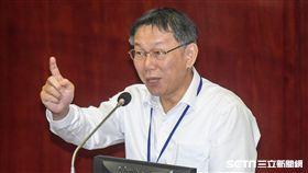台北市長柯文哲前往市議會備詢。圖/記者林敬旻攝