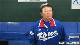 ▲韓國隊專任監督宣銅烈。(圖/記者蕭保祥攝)