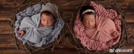 張雨綺,雙胞胎,袁巴元,/翻攝自微博