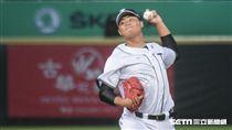 亞冠賽台灣代表隊投手林政賢 圖/記者林敬旻攝