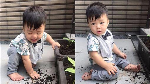 陳泱瑾,Grace,Theo,兒子,吃土,/翻攝自陳泱瑾臉書