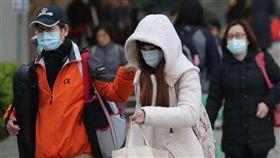 -低溫-冷-寒流-冷氣團-氣象-口罩-圖/中央社
