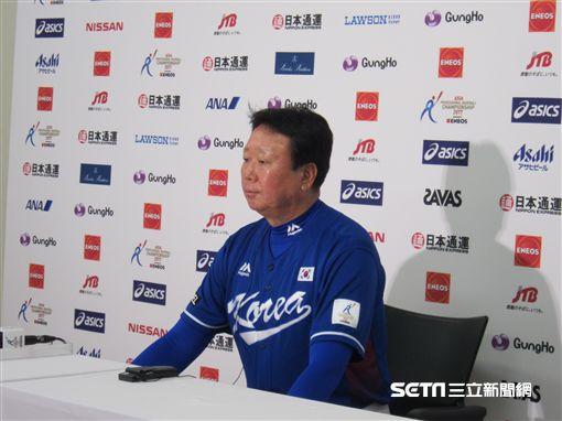 ▲韓國隊專任教練宣銅烈。(圖/記者蕭保祥攝)