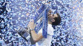 ▲保加利亞單手反拍名將Grigor Dimitrov奪下ATP年終賽總冠軍。(圖/美聯社/達志影像)
