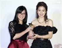 郭書瑤擔任MOD微電影創作大賽頒獎典禮頒獎大使。(記者邱榮吉/攝影)