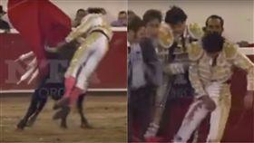鬥牛士,鬥牛,墨西哥,Luis David Adame,Querétaro,下體,慶典,公牛,墨西哥 圖/翻攝自YouTube https://goo.gl/xwim2Q
