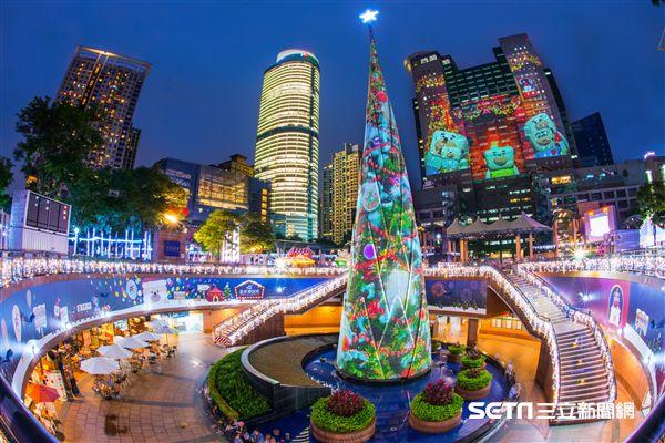 新北歡樂耶誕城,新北市歡樂耶誕城,聖誕節,光雕投影。(圖/新北市政府提供)