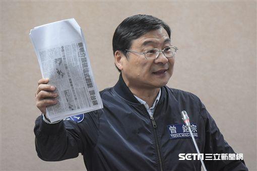 國民黨立委曾銘宗質詢國防部長馮世寬,發生激烈言詞辯論。 圖/記者林敬旻攝