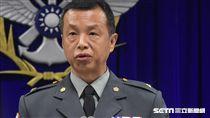 國防部針對獵雷艦一案召開記者會說明,發言人陳中吉 圖/記者林敬旻攝