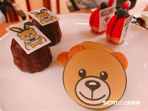 台北君悅酒店與MOSCHINO聯名下午茶。(圖/記者簡佑庭攝)