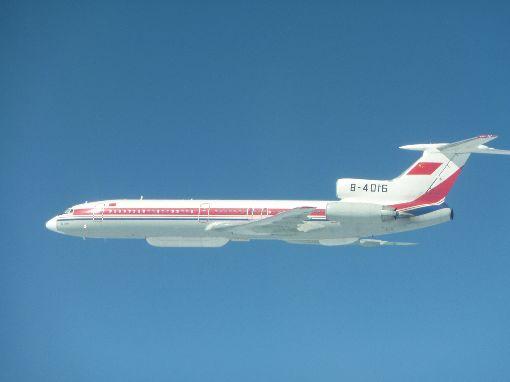 中共Tu-154電偵機穿出巴士海峽跨島鏈訓練國防部22日表示,上午中共計有轟6、運8、Tu-154、IL-78與蘇愷30等各型機,經巴士海峽飛往西太平洋從事跨島鏈訓練。圖為國防部公布的Tu-154電偵機照片。(國防部提供)中央社記者呂欣憓傳真 106年11月22日
