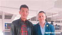 台灣隊長陳柏良與總教練懷特(圖/記者蔡宜謹攝影)