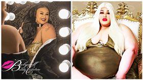 美國,大尺碼女孩,棉花糖女孩,美容院,Jamie Lopez (圖/翻攝自Jamie Lopez臉書)