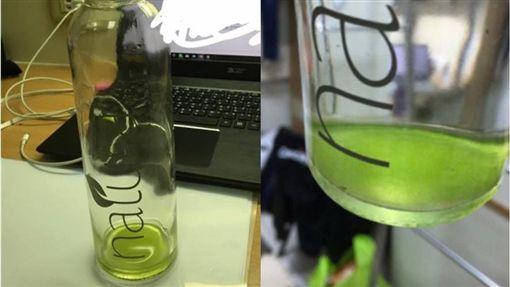 水瓶,水壺,青苔,dcard,室友,大學,玻璃瓶 圖/翻攝自Dcard