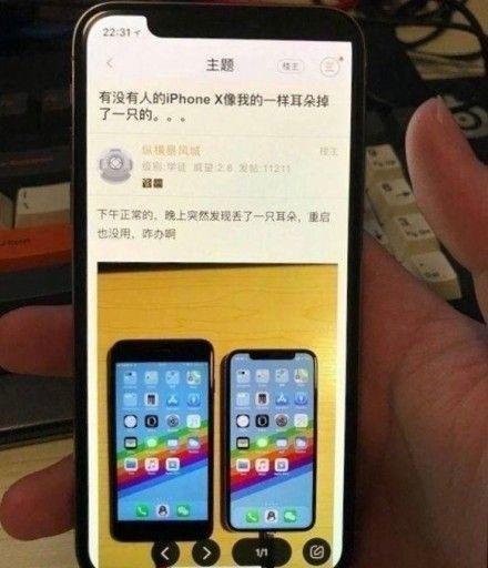 iPhone X 出包 瀏海圖/翻攝微博