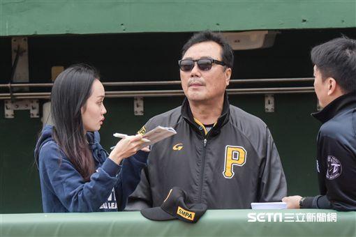 韓職聯隊總教練柳承安 圖/記者林敬旻攝