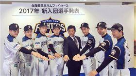 清宮幸太郎穿上火腿21號球衣。(圖/翻攝自火腿推特)