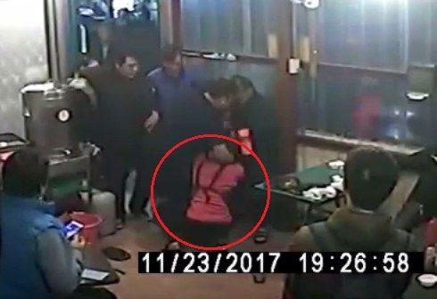 情侶大鬧雲林麥寮一家牛排館 動手毆打店員畫面曝光/YouTube
