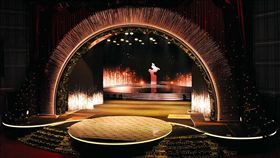 金馬54頒獎在即 舞台布置曝光第54屆金馬獎頒獎典禮25日將登場,台視今年已是連續第8年承製,斥資新台幣千萬打造星光閃閃的典禮舞台。(台視提供)中央社 106年11月24日