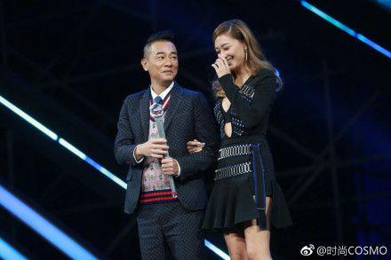 陳小春和應采兒互動逗趣,深受粉絲喜愛。(圖/翻攝自微博) ID-1150518