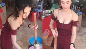 泰國辣妹露酥胸賣麵/爆笑公社