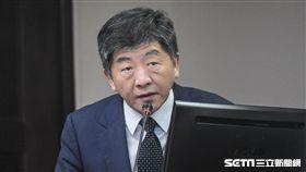 衛福部長陳時中赴立法院報告並備詢。 圖/記者林敬旻攝