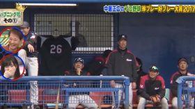 ▲日職巨乳球僮讓球員都看傻眼(圖/翻攝自YouTube)