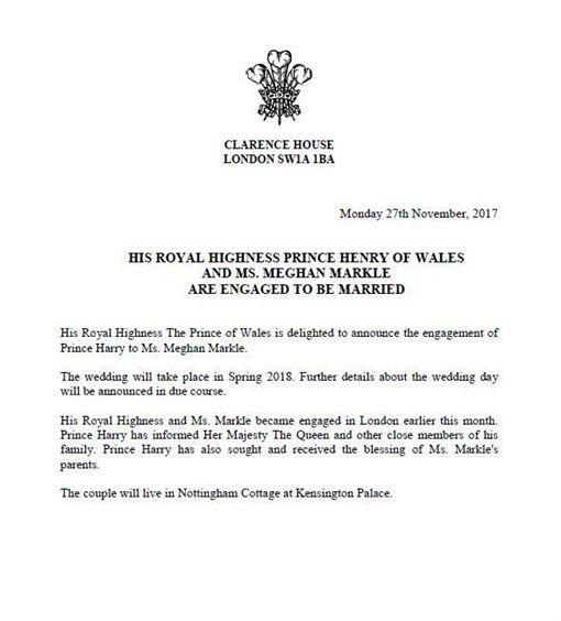 梅根馬克爾,哈利王子(圖/翻攝自推特The Royal Family