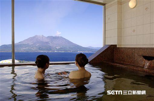 鹿兒島,活火山,櫻島,泡當。(圖/Sun Royal提供)