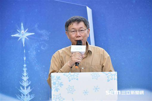 台北市長柯文哲合體雪寶 北市府提供