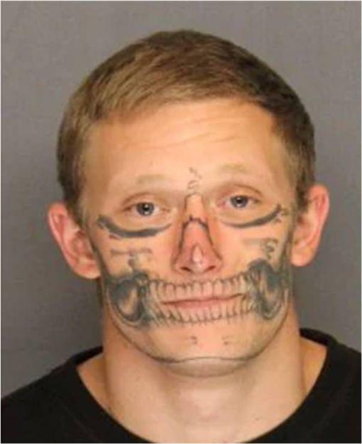 刺青,Corey Hughes,越獄,逃獄,美國,San Joaquin County 圖/翻攝自San Joaquin County Sheriff's Office