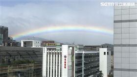 彩虹、好天氣、晴朗