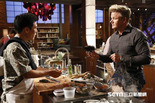 《廚神當道美國版8》王凱傑Jason Wang 高登Gordon Ramsay/福斯傳媒集團提供