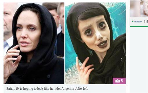 伊朗女子薩哈爾.塔巴(Sahar Tabar)整容如殭屍。(圖/翻攝《太陽報》)