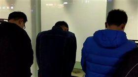 縱火三名男子 桃園機場被逮 翻攝畫面