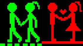 屏東站前廣場創意小綠人行人號誌(圖/翻攝畫面)