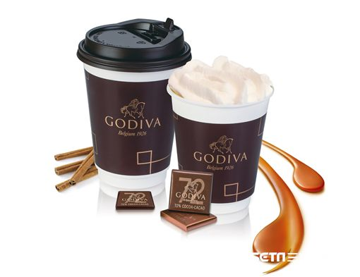 GODIVA冬季限定黑巧克力熱飲。(圖/GODIVA提供)