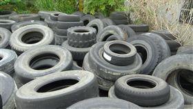 花蓮瑞穗鄉,保七總隊第九大隊破獲違法堆置廢棄輪胎(圖/保七總隊第九大隊提供)