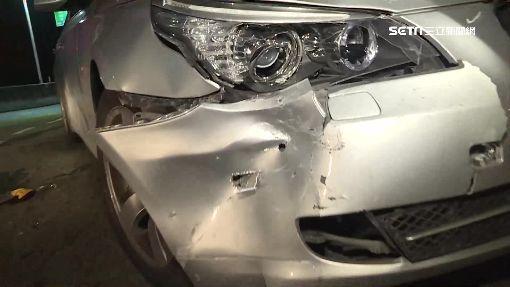 疑高速對撞BMW! 騎士倒地痛苦哀號