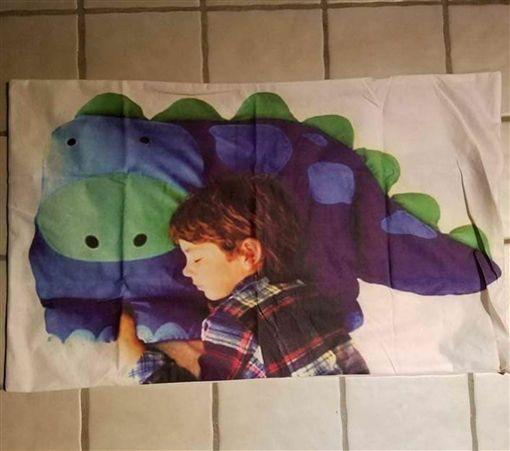 枕頭,恐龍,男孩(imgur)
