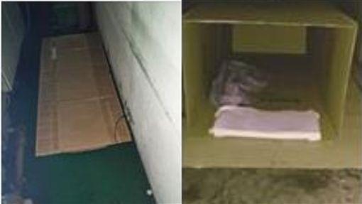 「垃圾袋包緊緊」低溫吹冷風躺地板 工人:我們很滿足了…圖翻攝自爆料公社http://www.bc3ts.com/post/5475