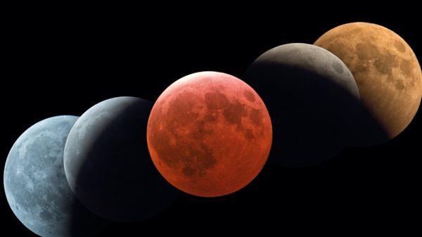血紅色月亮,月全食 圖/翻攝自台北市立天文館