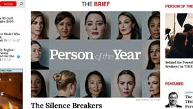 時代雜誌(The TIME)2017年風雲人物  打破沉默者(圖/翻攝自時代雜誌官網)