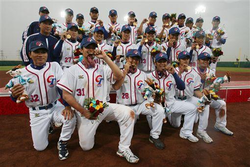▲台灣中華隊2006年首次在多哈亞運棒球項目奪金。(資料照/美聯社/達志影像)