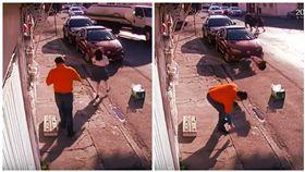 墨西哥,女學生,街頭慘摔,摔倒。(圖/翻攝自YouTube)