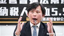 時代力量立委黃國昌召開慶富聯貸弊案記者會 圖/記者林敬旻攝