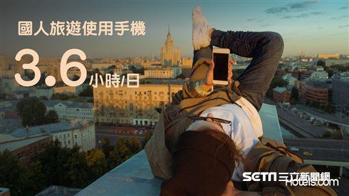 行動裝置旅遊調查。(圖/hotels.com提供)