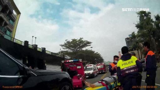 婦撞賓士壓車底 路過警搭拖吊車即刻救援